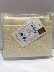 ミッフィー 財布 小銭入れ コインケース 白色