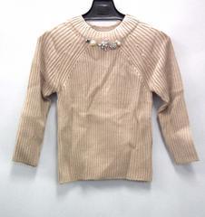 正規スナイデルSnidelビジュー付きセーターニットベージュレディース女性用石付き