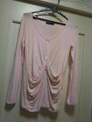ソードフィッシュ★フリーsize ピンク 長そでカットソー Tシャツ