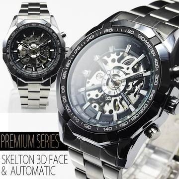 NEW★3Dフルスケルトン自動巻き腕時計★BCG89-BK