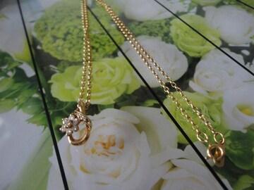 花デザインぷちダイヤ付きネックレス