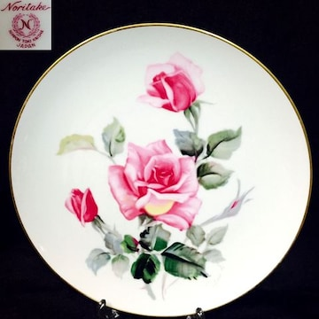 27cmオールドノリタケNORITAKEサイン入りバラ薔薇プレート