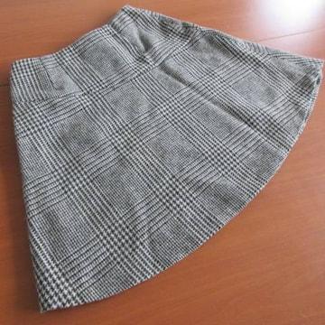 ▽INDIVI▽ 格子柄 フレアスカート 36
