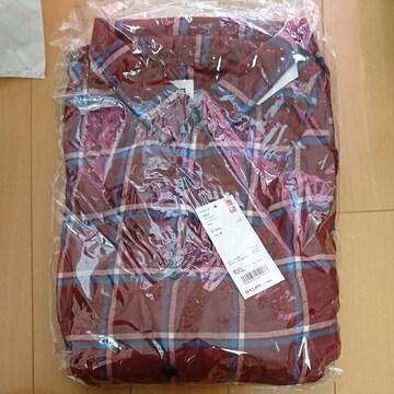 UNIQLO.ユニクロ.フランネル ロング シャツ XXLサイズ.Wine色新品タグ付きです。