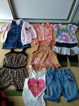 90�p女の子9点福袋セット春物〜夏物ANAP