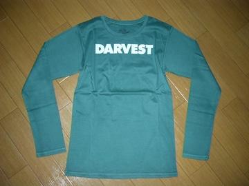 新品ダーベストDarvestカットソーM緑ロンTシャツロゴ半額以下