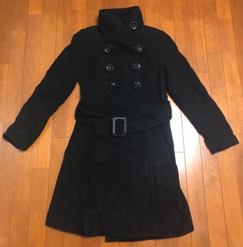 ZARAザラ☆ボタンウールコート黒