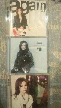 激安!超レア!☆YUI/マキシシングル3枚セット!☆初回盤/3CD+3DVD☆美品!☆