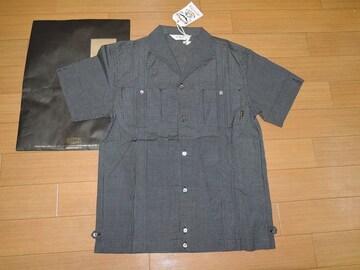 新品キャリーCALEEキューバシャツM黒ギンガムチェック半袖