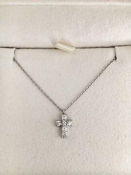 ヴァンドーム青山 ダイヤモンド クロス ネックレス Pt900 0.18ct