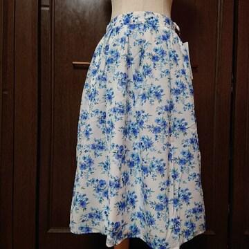 ¥8690/M/新品☆水彩花柄スカート