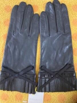 ニナリッチ 羊皮革手袋リボン
