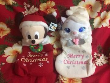 新品未使用☆Disney☆ミッキー&おしゃれキャットのクリスマス☆