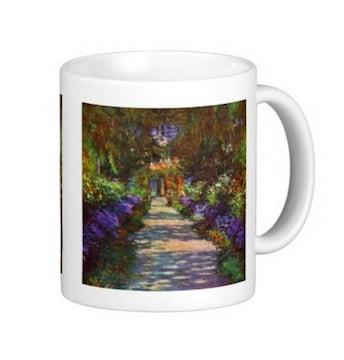 『 モネ家の庭の小道、ジヴェルニー 』のマグカップ