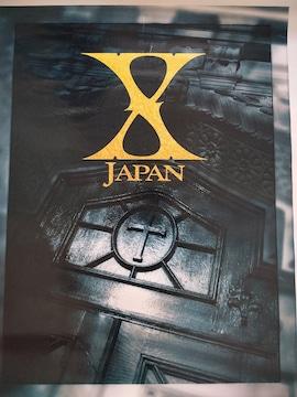 X JAPAN ポスター ロゴ 52cm×67cm YOSHIKI hide ToshI PATA