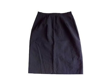 良品計画 無印良品 黒 タイト 膝丈 スカート M 64