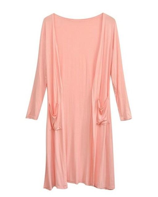 UVカット★ロングカーディガン(ピンク.フリーサイズ) < 女性ファッションの