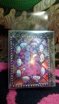 インドポップ キラキラ雑貨 ミニノート 紫