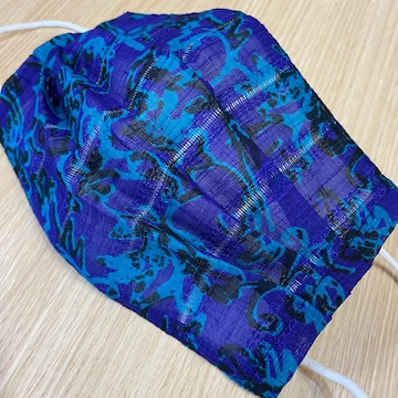 マスクカバー 刺繍 紫 緑 黒 インナーマスク