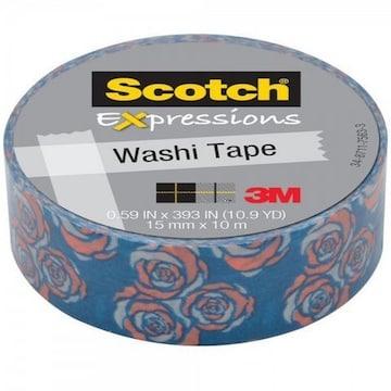 海外製品Scotch 3M Washi TapeマスキングテープRose薔薇バラ