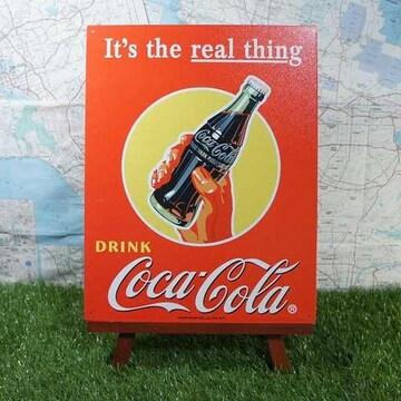 新品【ブリキ看板】Coca-Cola/コカ・コーラ Bottle in Hand