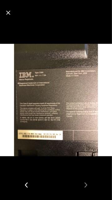 IBM G40 中古ノートPC < PC本体/周辺機器の