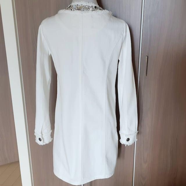 ♪Narcissus♪ナルシス♪ビジュー♪白♪デニムコート♪2♪ < 女性ファッションの