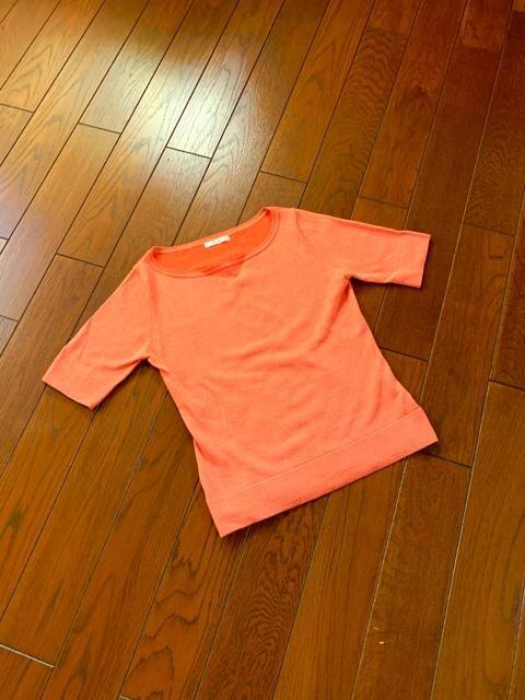 【美品】ELLE◆ラメ入◆ライン美洗練サマーニット  < 女性ファッションの