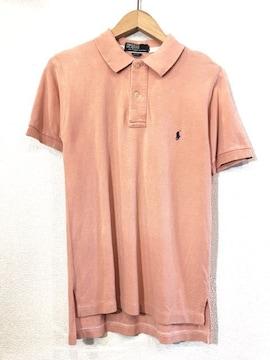 Ralph Lauren■ポロシャツ■USA製■ラルフローレン■薄赤