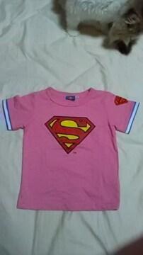 キッズ・スーパーマン Tシャツ 100�p