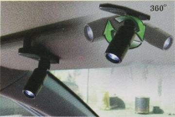 カーインテリアランプLEDサンバイザーに装着360度回転可能