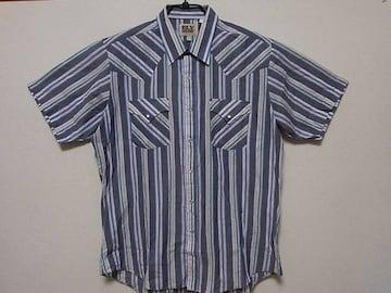 即決USA古着●ELY CATLEMANデザインウエスタン半袖シャツ!ヴィンテージレア