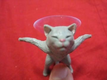 限定猫 スマホ台 グレー 新品未使用
