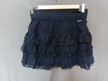 USA購入【Abercrombie&Fitch】レース&フリルミニスカートUS S紺