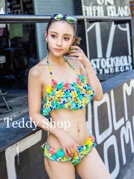 TeddyShop【新品】フラワーフリルバンドゥビキニ 2点SETセット