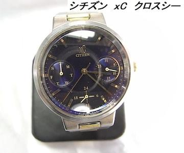 ★本物シチズンXCクロスシー レディースクロノグラフ腕時計