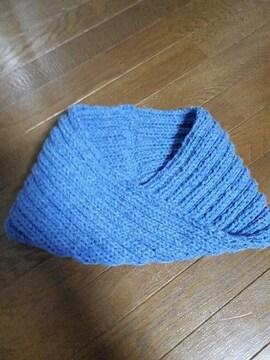 すっぽりかぶれる手編みスヌード・ハンドメイド・激安