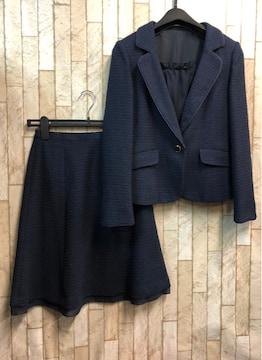 新品☆7号プチサイズ紺フォーマルスーツ暖か裏地スーツ☆n917
