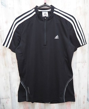 adidas アディダス W RESPONSE HZ Tシャツ M 黒x白