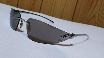 正規美レア カルティエ パンテール パンサーメタルフレームサングラス 黒×クロームシルバー ブラック