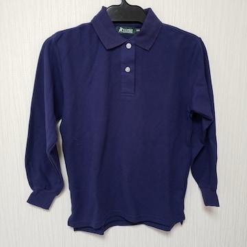 140cm U.S.POLO ポロシャツ 長袖 ネイビー系