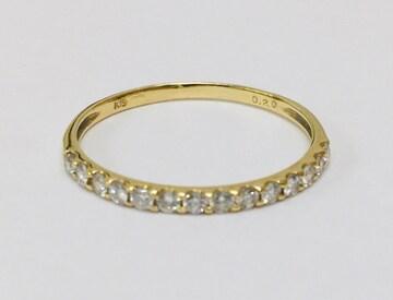 上質 ダイヤモンド k18  ゴールド リング 指輪 未使用
