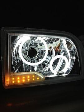 展示品!100系ハイエースバン!イカリング4灯+LEDヘッド!
