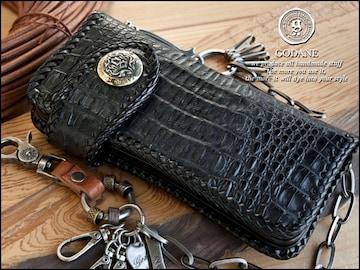 ゴダン spcw817sbk背面クロコ革長財布