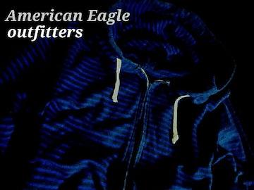【アメリカンイーグル】Vintage スウェット フルジップパーカー US−L(L〜XL)/Blue