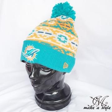 NEWERA ニューエラ ドルフィンズ ニットキャップ752ニット帽 NFL