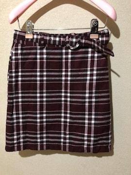 【新品】イング  ベルト付き Wゴムスカート 定価4290円