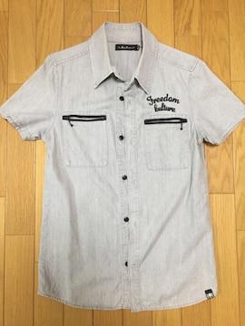 ロイフランク メンズワークシャツ グレー アメカジ