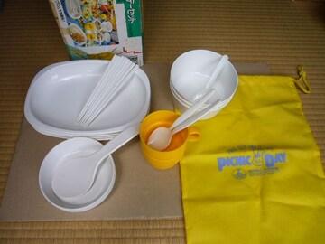 ★キャンプアウトドア用食器セット★プレート皿スプーンカップ