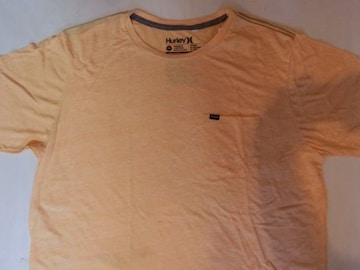【Hurley】PREMUIM FIT シンプルなポケット付T US XL オレンジ